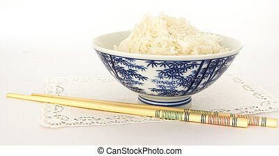 Ricebowl 1 - Bowl of rice and chopsticks
