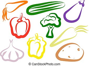 Vegetable Icons - groceries