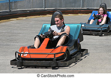 Teens At The Track