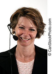 headset - receptionist with a smile