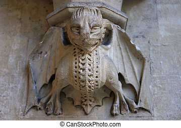 Gargoyle - A gargoyle carved on Westminster Abbey, London