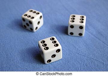 Best shot - Three dices, three times six.
