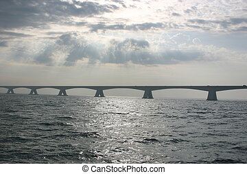 Bridge over the Oosterschelde in Holland