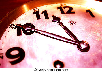 Time will tell - Only time will tell... Closeup of an...