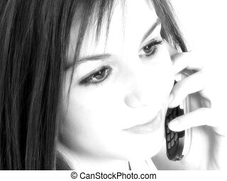 Teen Girl Cellphone - Beautiful Teen Girl With Cellphone....