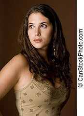 Natural Model 13 - A beautiful and natural young woman on a...