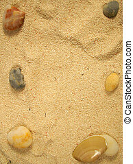 sand and rocks - sandy background with rock borders