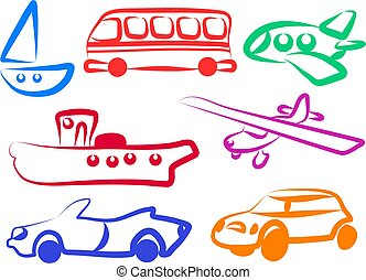 Transport Icons - vehicles