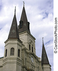 Reaching For God - Cathedral spires in Jackson Square