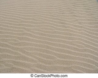 Sand Pattern - A wavy pattern in the sand