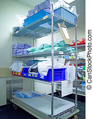 Hospital Supplies 1 - Sterile supplies in a hospital central...