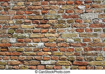Wall of bricks - Old bricks