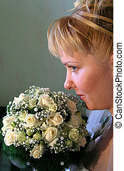 Bride 1 - with  bouquet