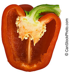 Bell pepper 4 - Section across a red capsicum