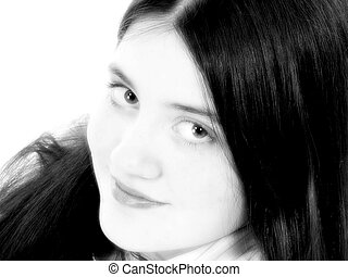 Tween Girl Portrait - Beautiful twelve year old girl...