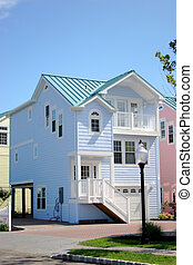 Beach House - LBI Beach Haven NJ - New Beach House In Blue -...