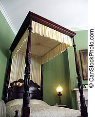 Four Poster - Antique four post canopy bed at plantation...