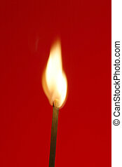 fire-starter - wood match stick engulfing with flame