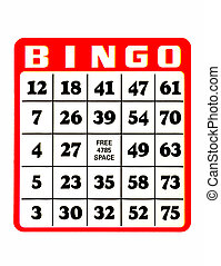 Bingo, cartão