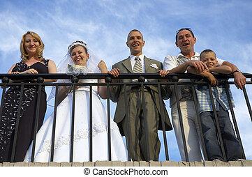 lycklig, bröllop