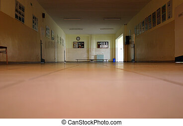 School time dreaming - Floor perspective of a school...