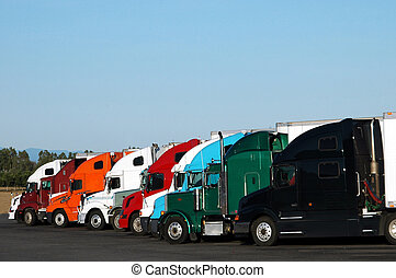 Trucks - Taken at a rest stop in California