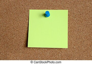 Corkboard with empty note