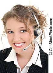 Customer Service - Beautiful Smiling Customer Service or...