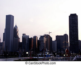 Evening Light - Chicago skyline, early evening