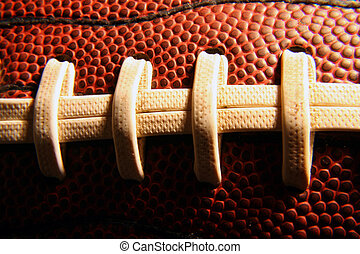 Football Laces - A close up of a football.