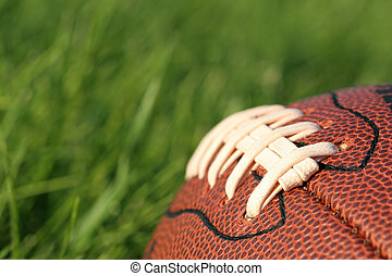 football in the grass - macro with shallow depth of field