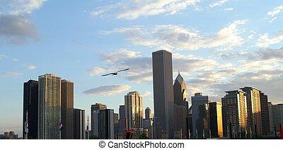 cityscape - Chicago skyscrape