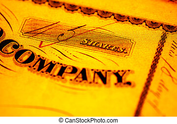 Company Share - Vintage Stock Certificate