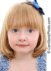 Girl Chid Close Up - Beautiful Little Girl With Strawberry...