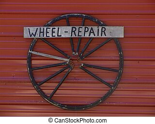 Amish Advertising - Amish advertising - wheel repair