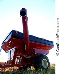 Red Wagon - Farmer's red grain wagon