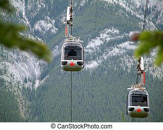 Banff gondola - Gondola in Banff, Canada.