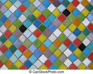 Multicolored mosaic - Mosaic background