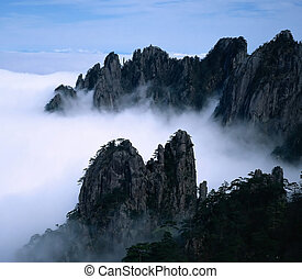 Peaks in the clouds - Yellow Mount in Anhui,China