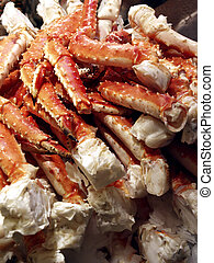 Crab Legs On Ice - Fresh crab on ice at Pike Place Public...