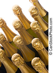 Champagne - Group of champagne bottle tops