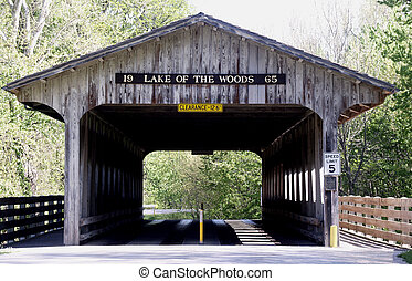 Enter The Park - Covered bridge entry to Lake of the Woods...