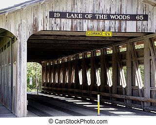 Inside the Bridge - Interior structure of covered bridge