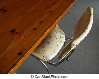 cottage chair table - rustic cottage table and chair 50's...