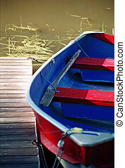 dock side - fishing boat ready for launch