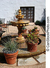 Spanish Fountain - A fountain in a Spanish-style courtyard...
