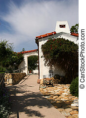 Spanish Casita - A Spanish-style casita in California