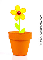 Paper Flower - Paper Cutout Flower in a Clay Pot