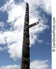 Standing Tall - Native American totem pole, Seattle,...