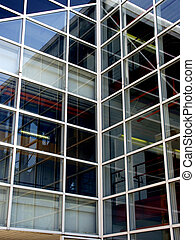 Reflections in Glass - Glass architecture with interior and...